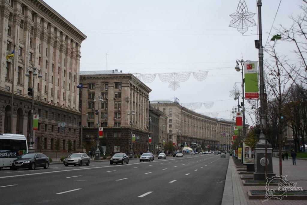 Ulice w centrum Kijowa