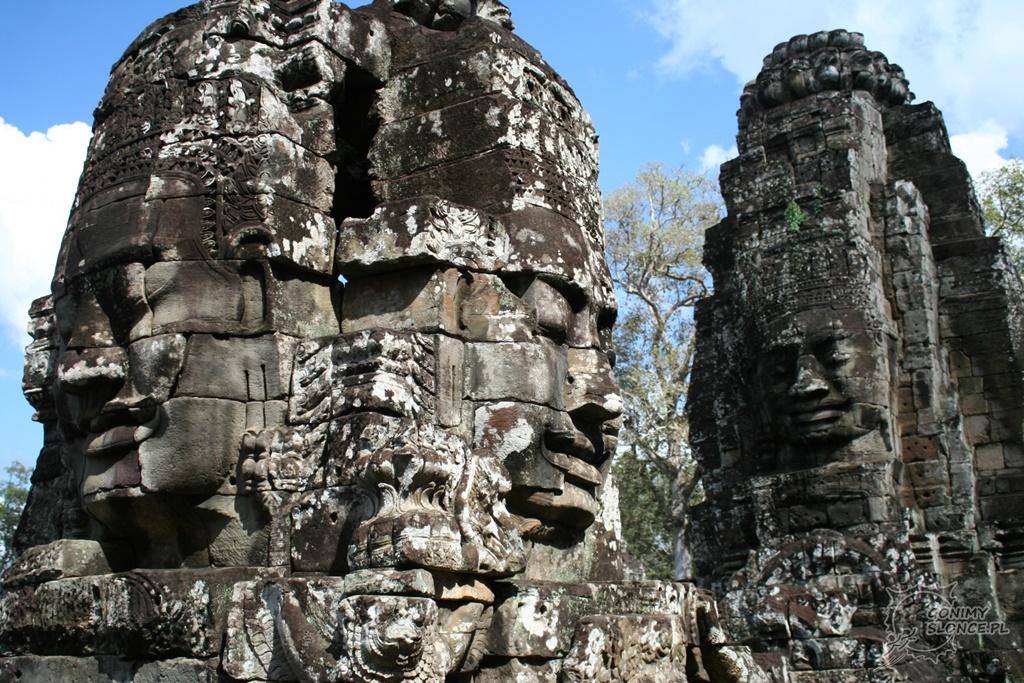 Twarze świątyni Bayon w Kambodży