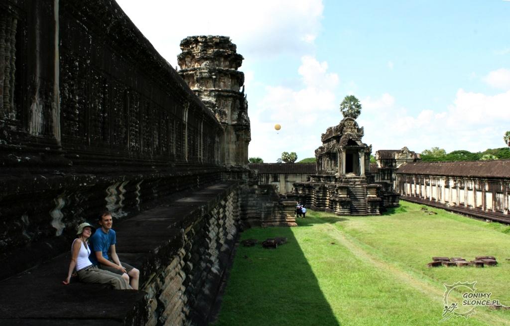 Ewa i Romek w Angkor Wat