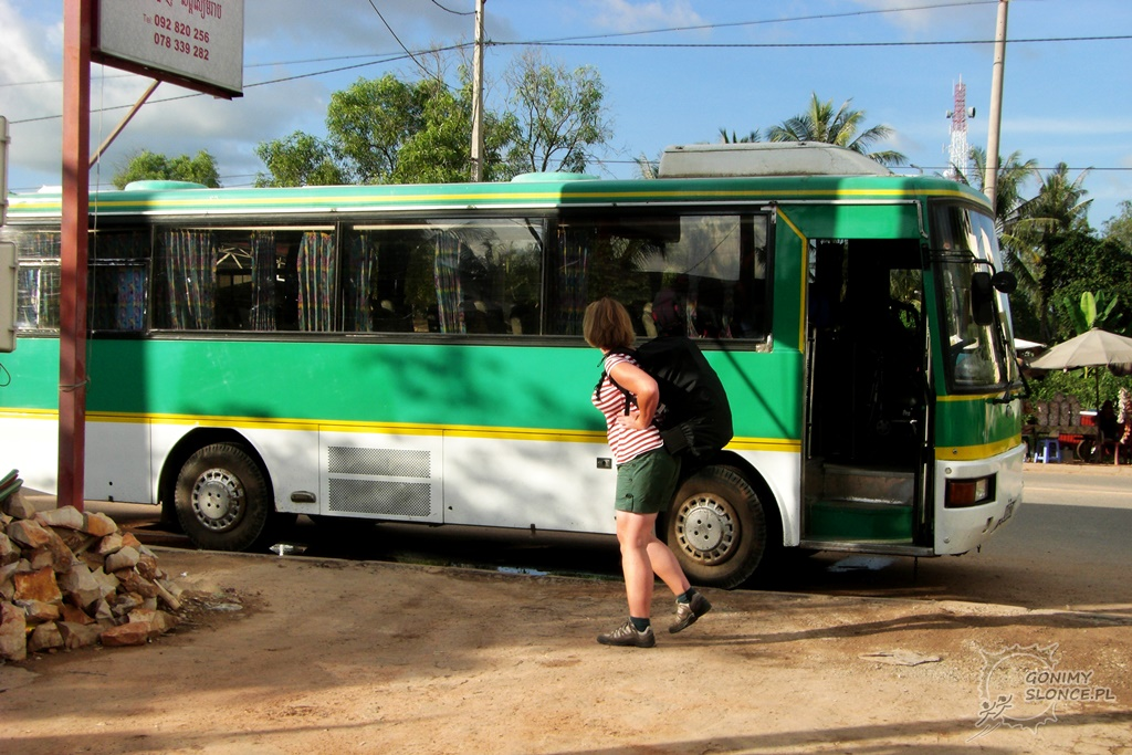 Bus z granicy do Siem Reap