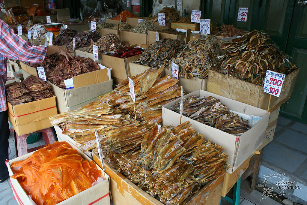 Targ miejski w Bangkoku, ryby