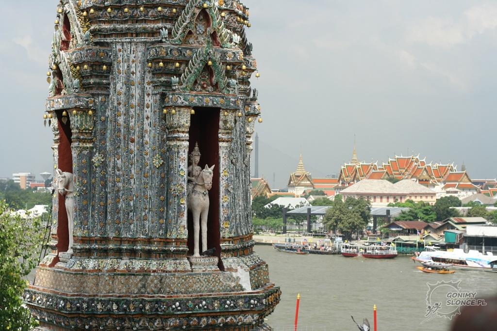 Widok na Bangkok z Wat Arun