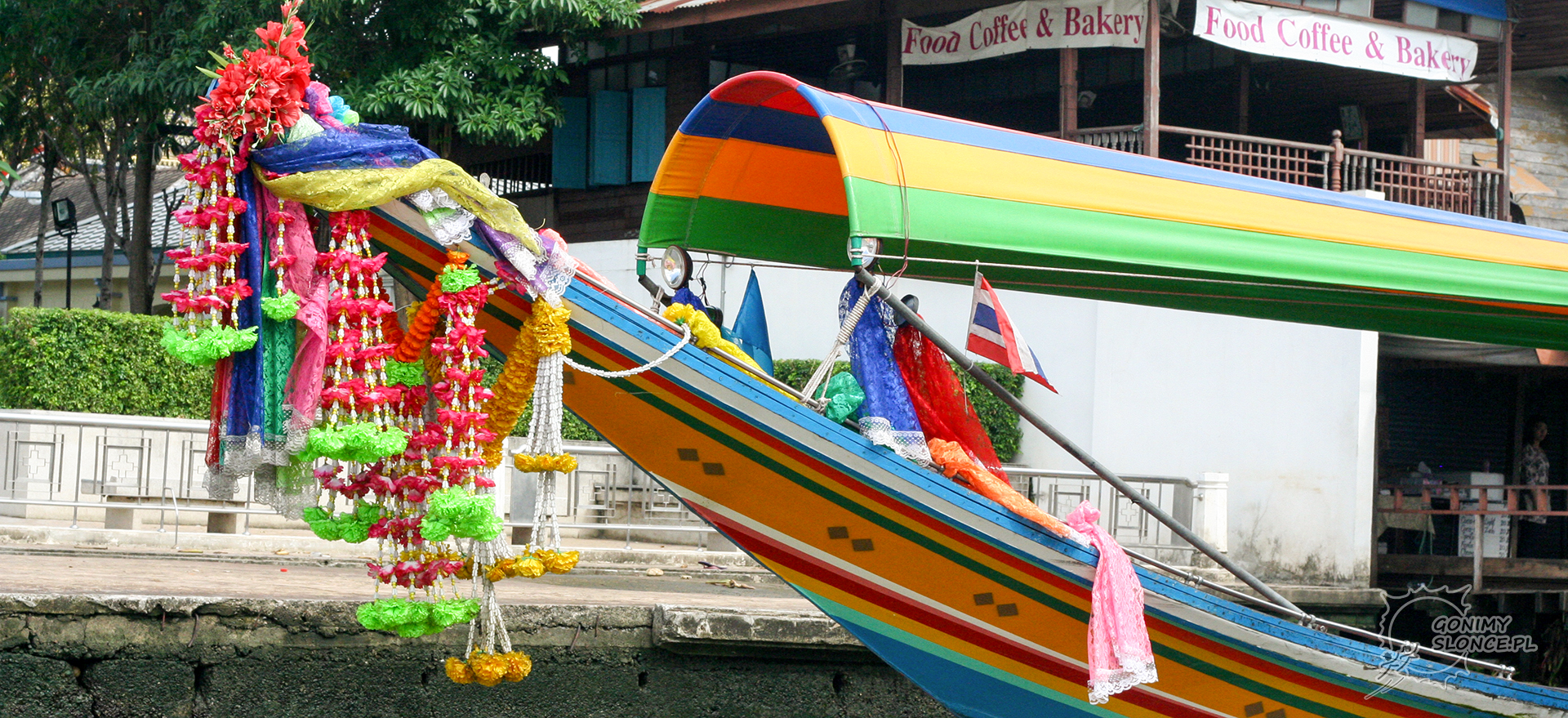 Bangkok, łodzie na Chao Phraya