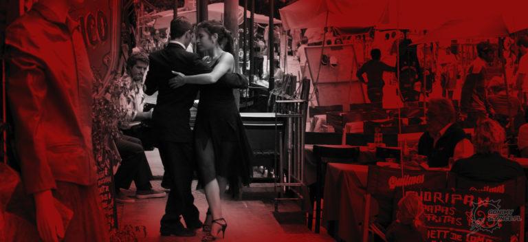 Buenos Aires, La Boca, tango na ulicach