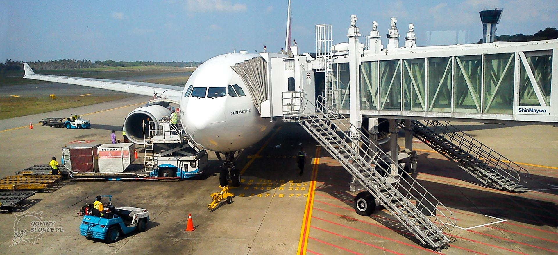 Dubaj lotnisko, samolot