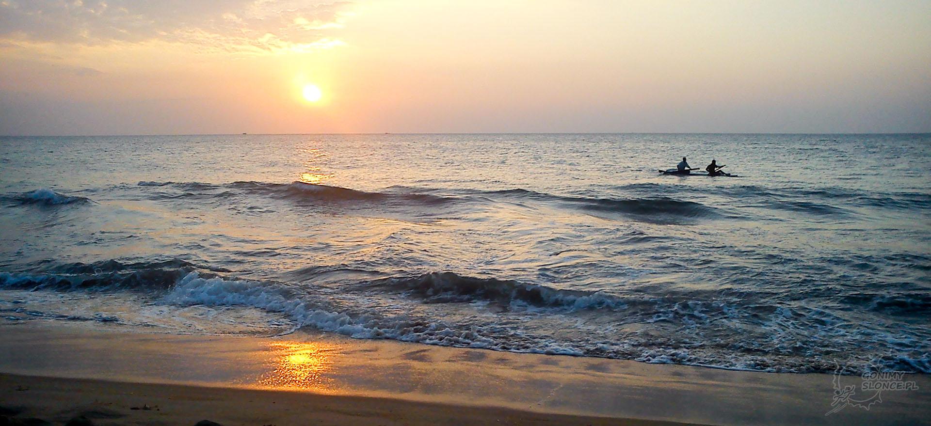 Negomno, Sri Lanka, zachód słońca
