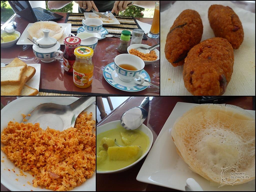 Tradycjne Syngaleskie śniadanie