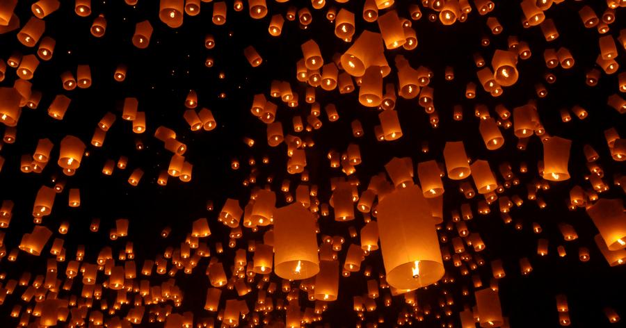 Yi Peng - Sky Lantern - Thailand