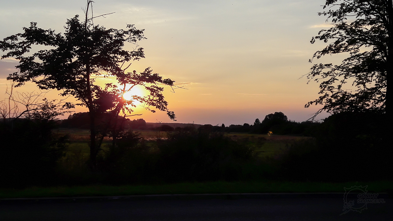 Zachód słońca na Podlasiu