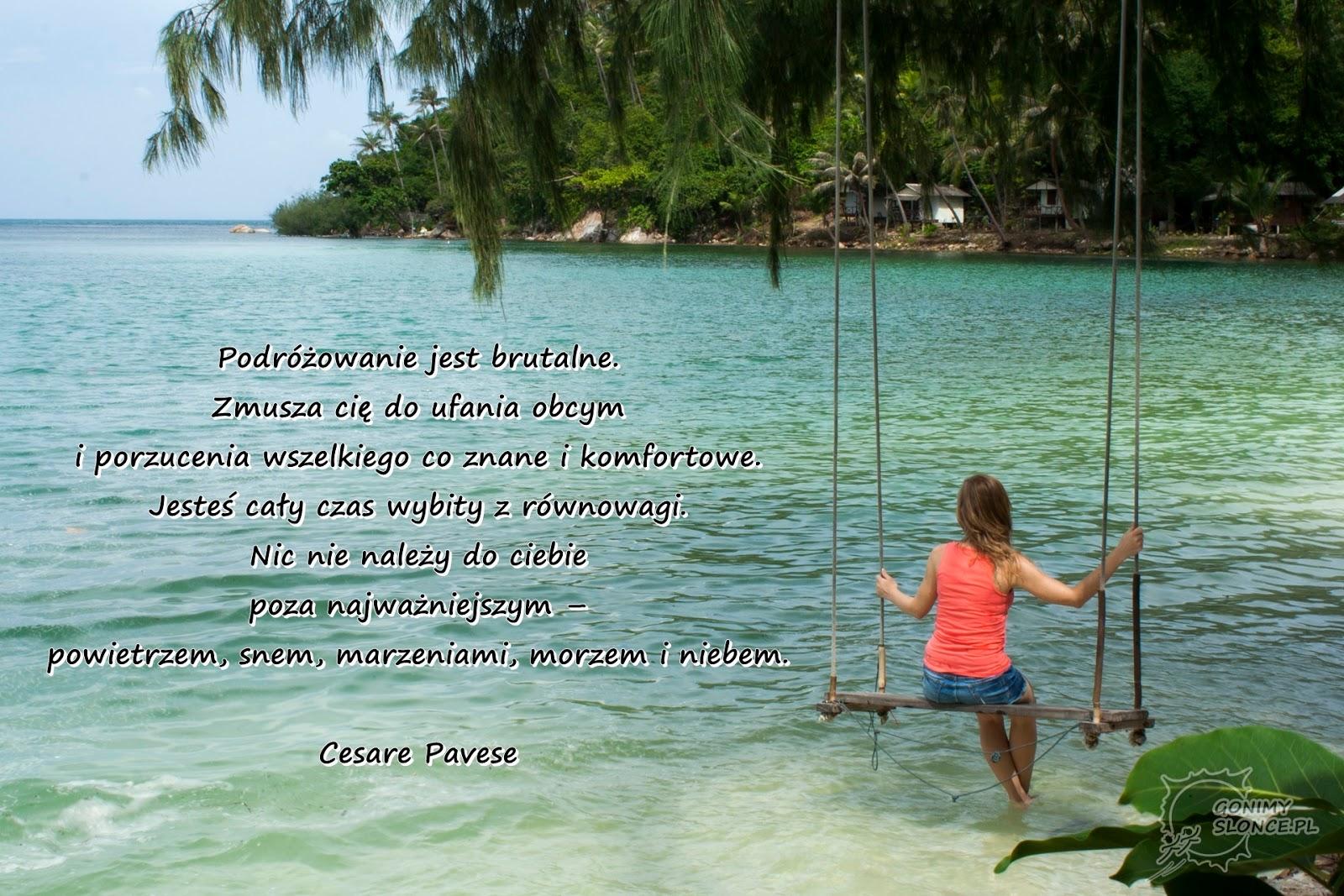 Podróżnicze cytaty | inspirujące zdania | rajska plaża | Tajlandia