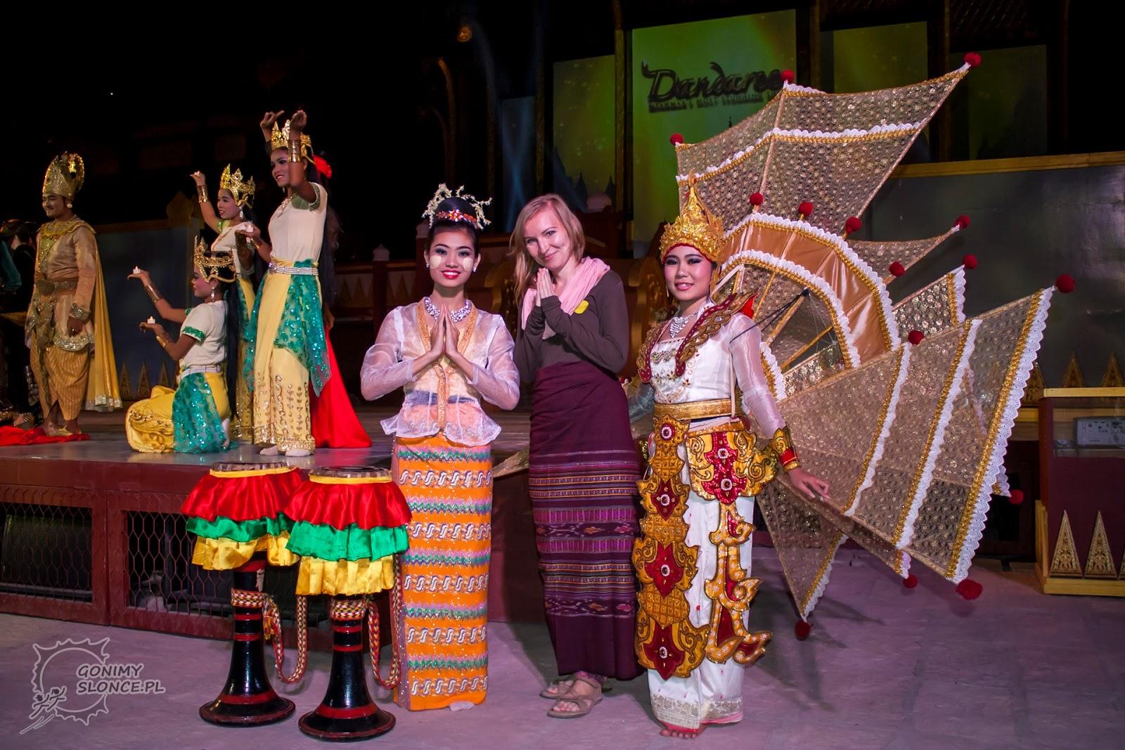 Spektakl w Bagan i thanaka, Birmanka w thanaka