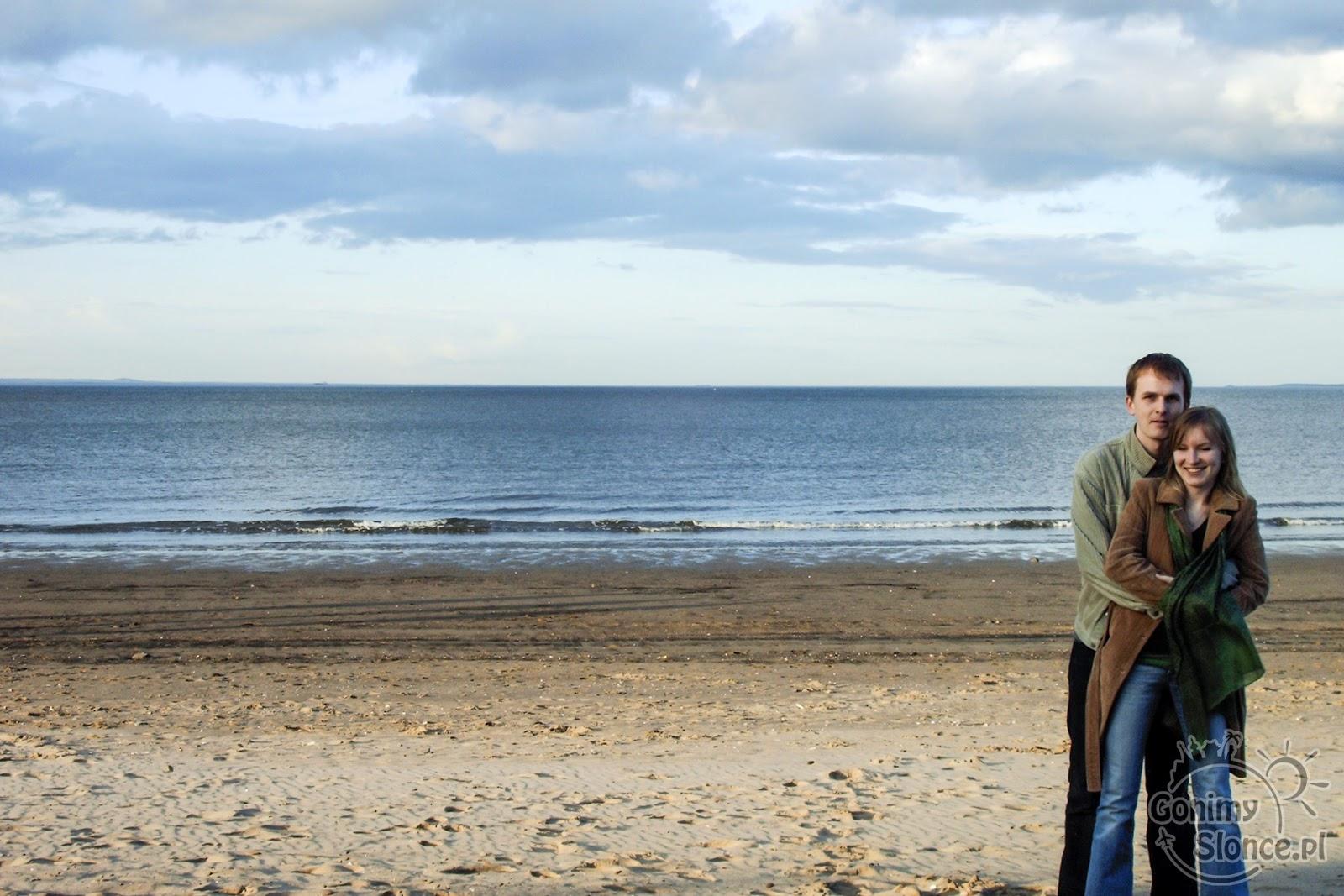 Plaża przy Portobello w Edynburgu