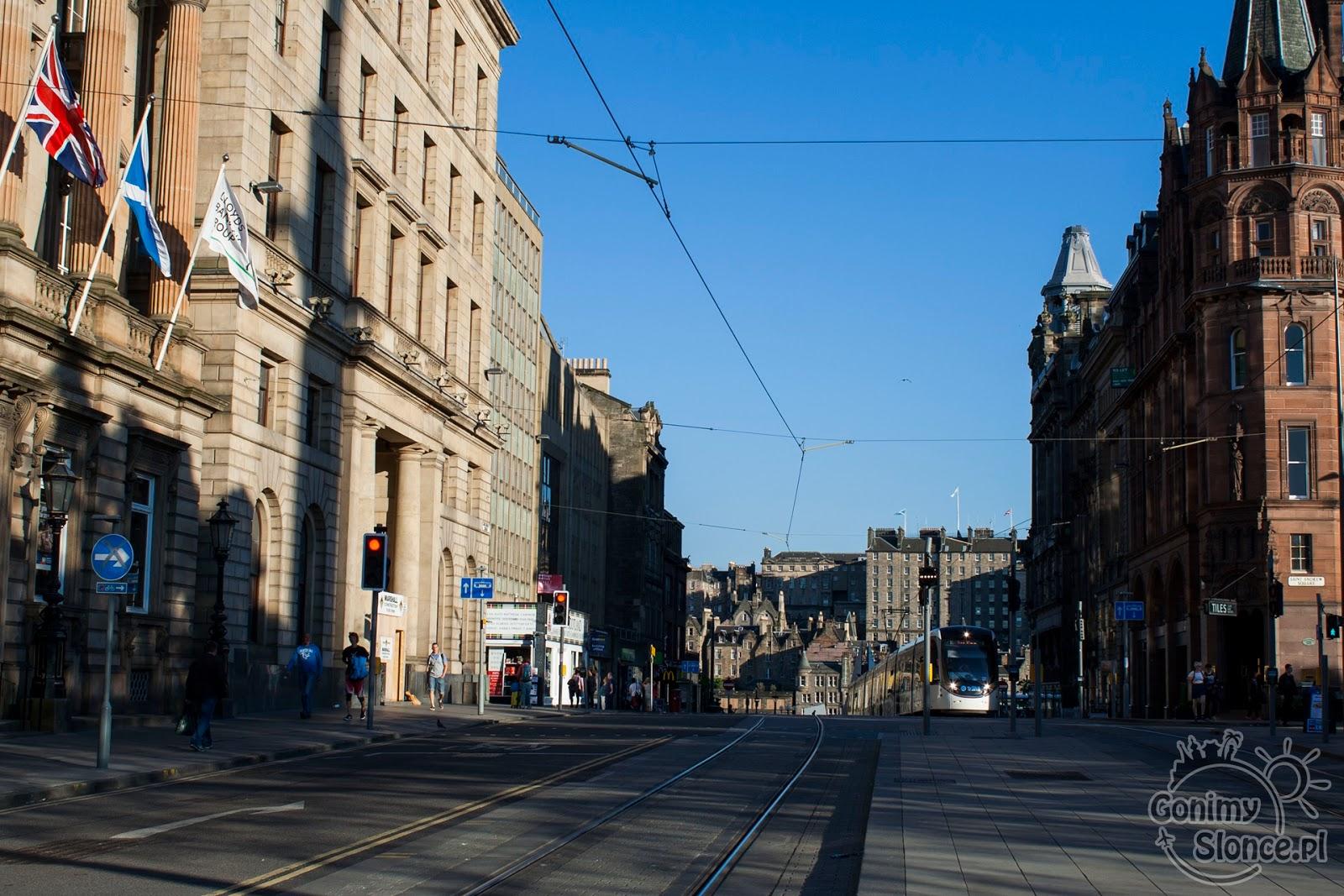 Edynburg - przewodnik - tramwaj na Nowym Mieście