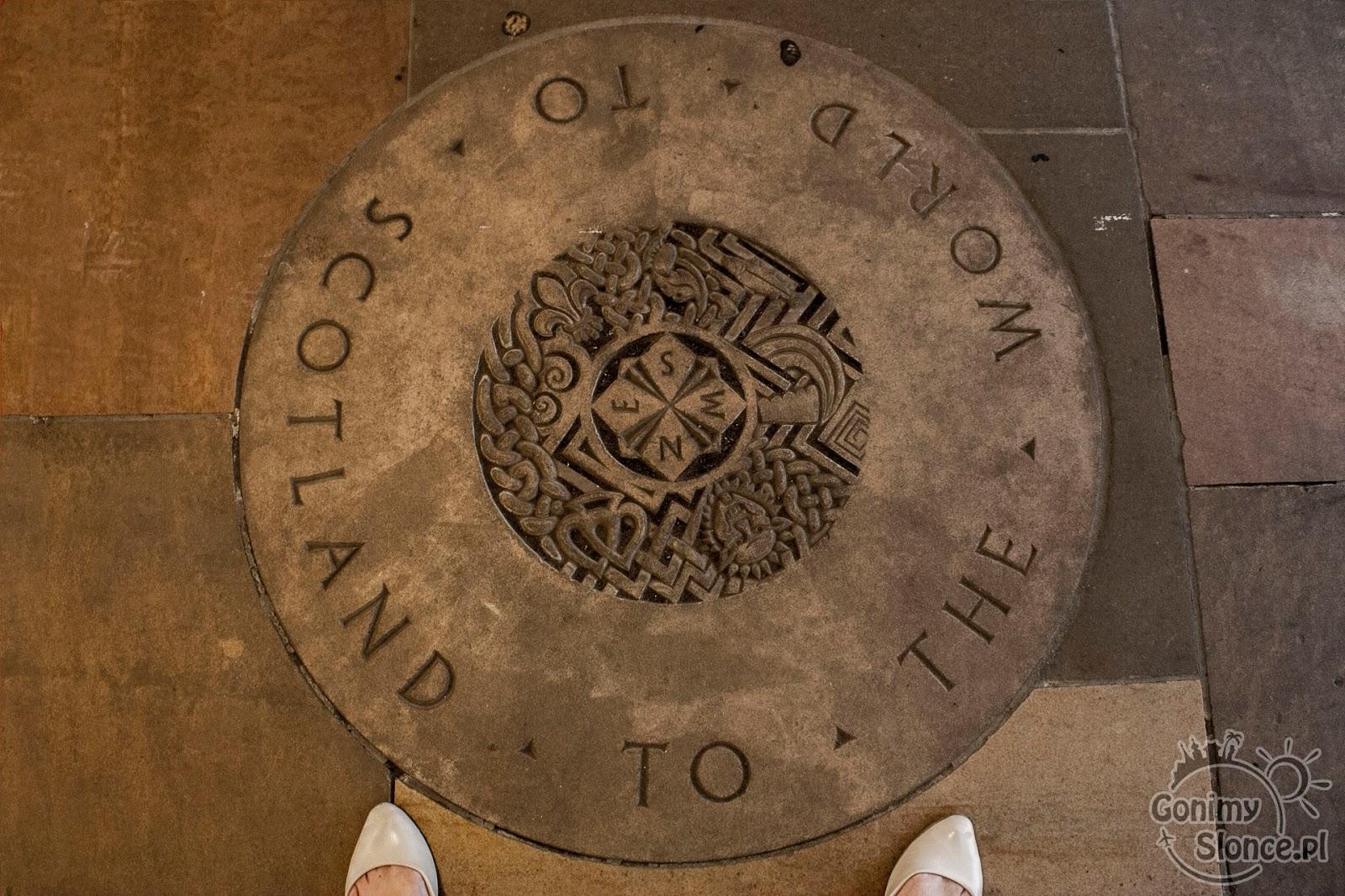 Szkocja, Edynburg, posadzka w muzeum