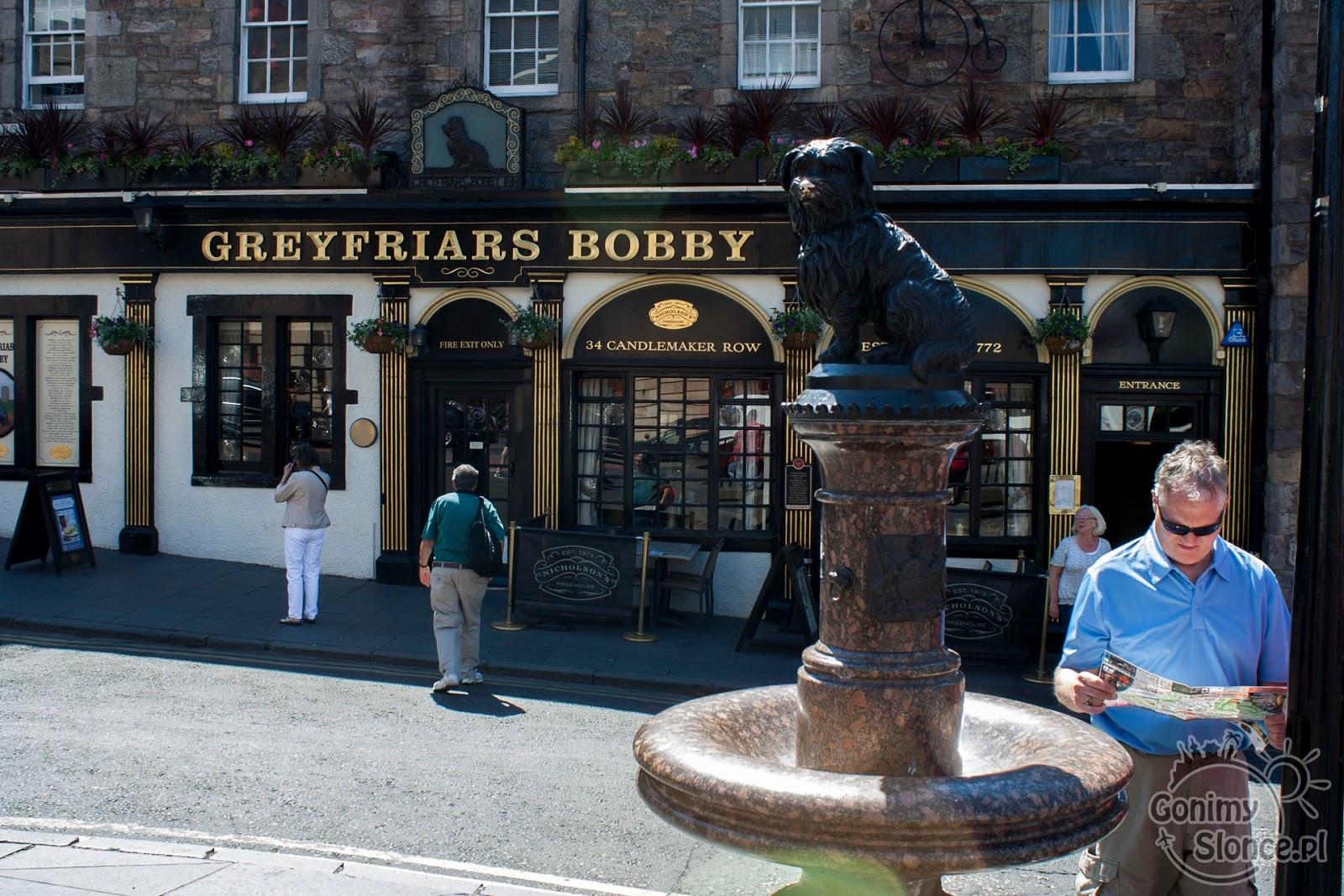 Pomnik psa Bobby'ego w Edynburgu