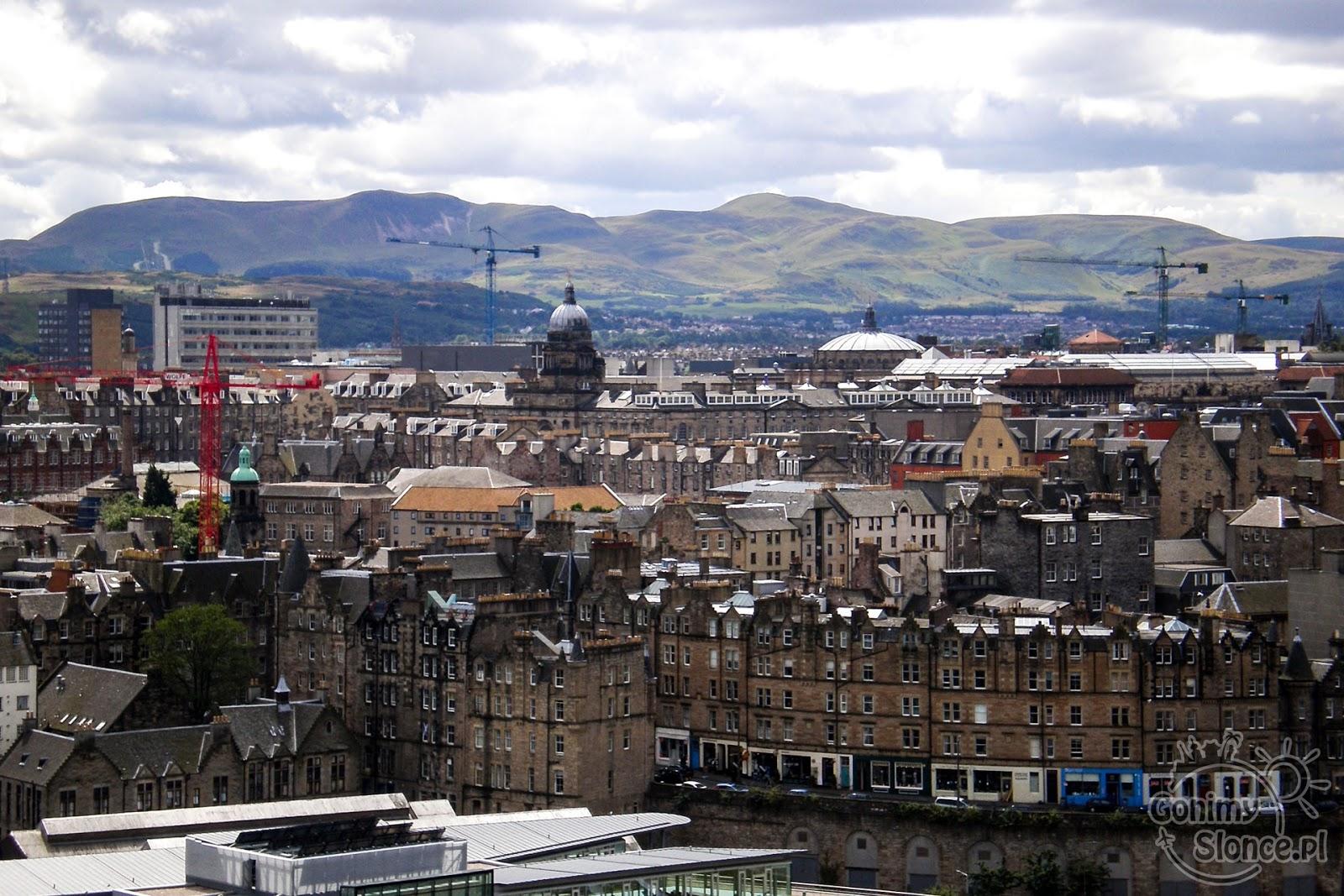 Widok na starą część Edynburga