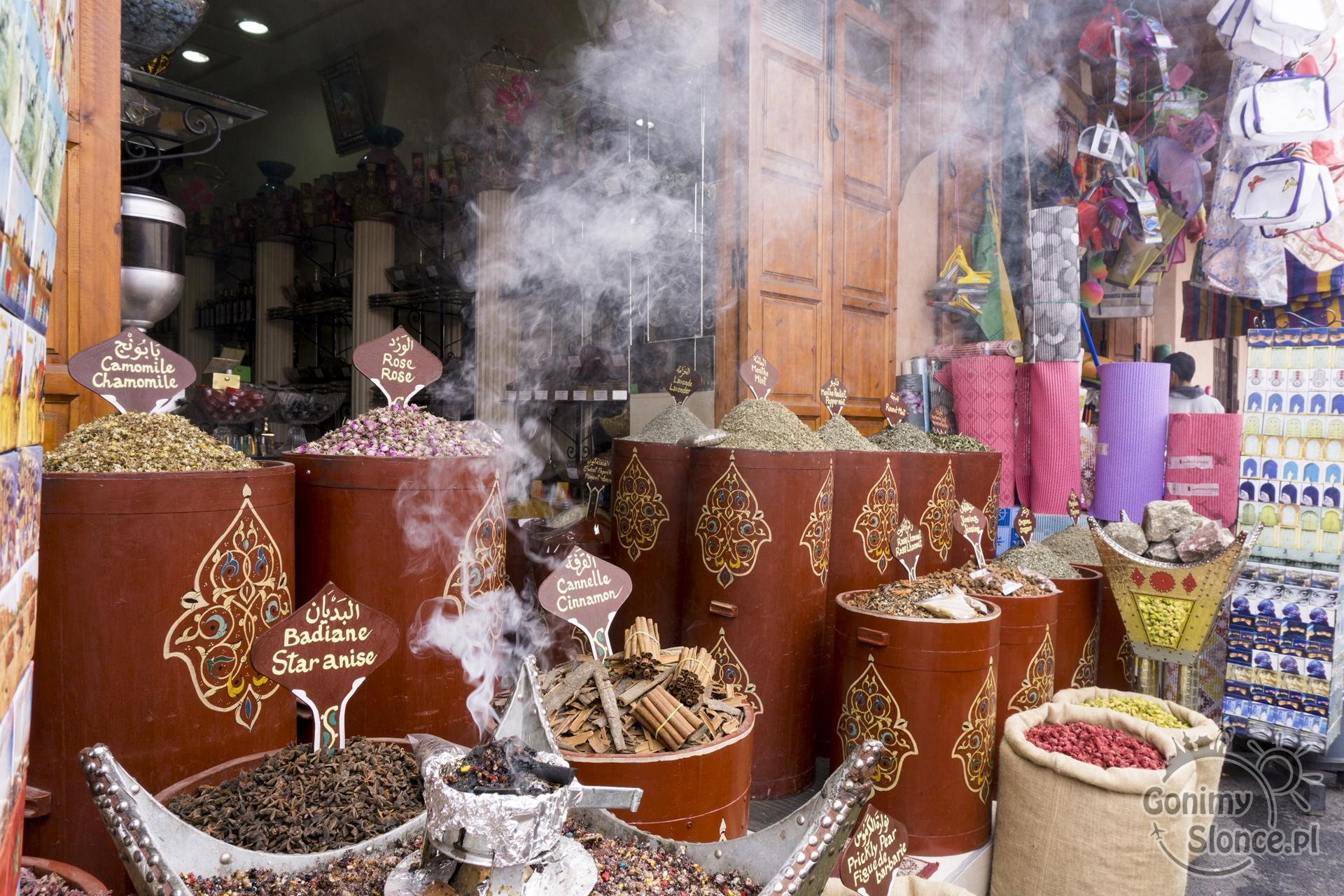 Marrakesz, zioła i przyprawy