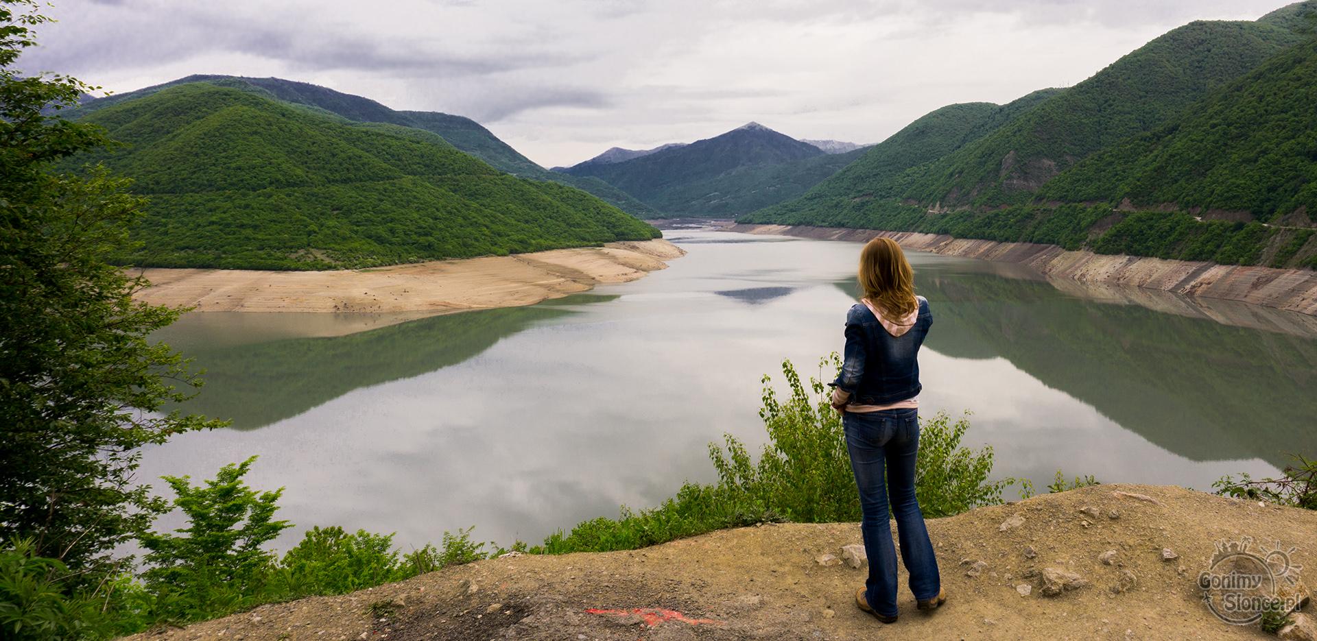 Żinwali jezioro, zbiornik wodny, Gruzja