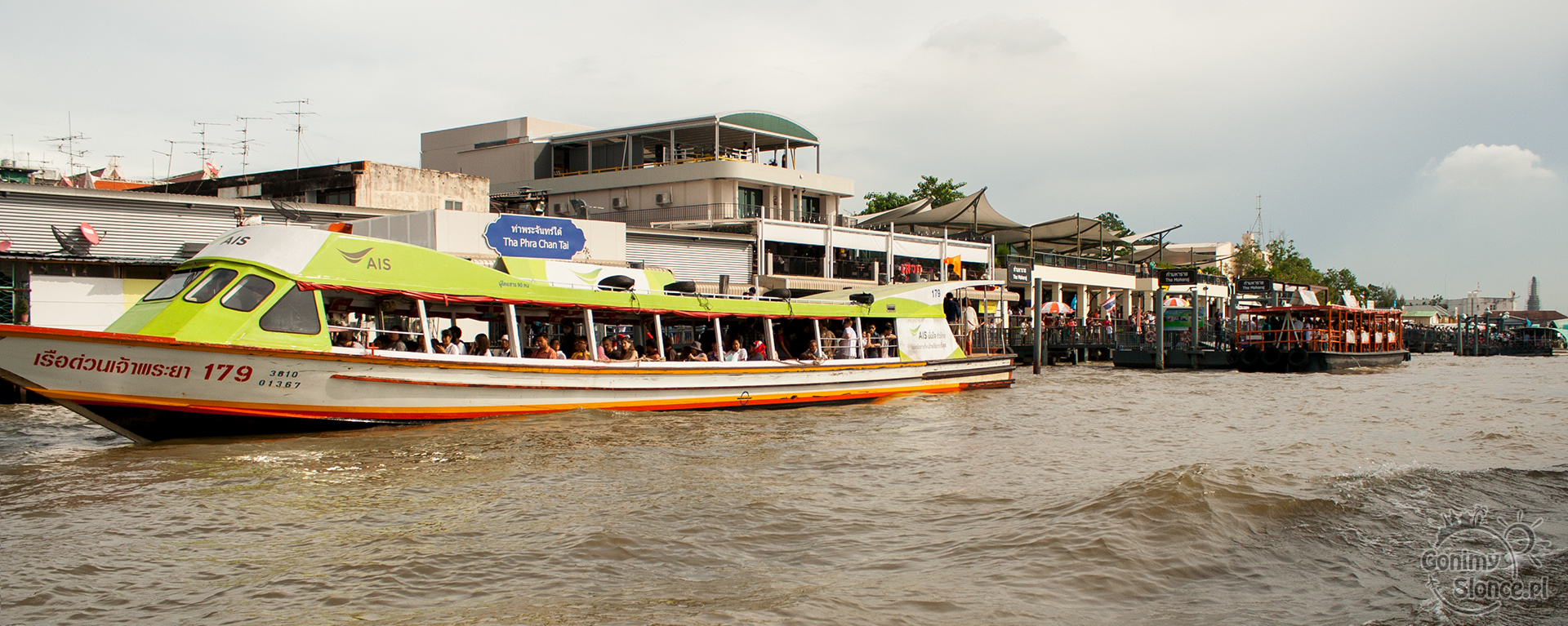 Chao Praya tramwaje wodne w Bangkoku