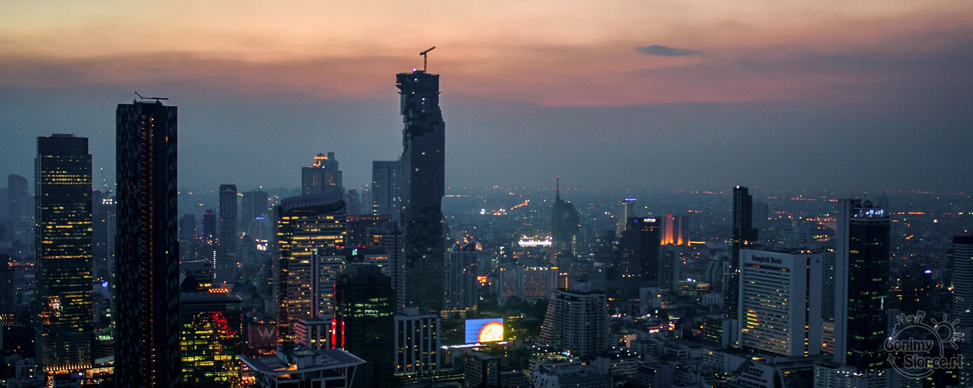 Sky Bar w Bangkoku, drapacze chmur