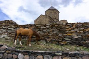 Monaster Cminda Sameba - Świętej Trójcy - Gruzja, Kazbek