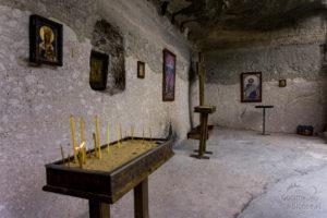 Vardzia wewnątrz, miejsce modlitwy i zadumy