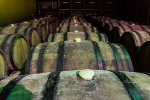 Beczki z leżakującymi winem, Kindzmarauli Kachetia