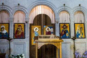 Wnętrze cerkwi, Signagi