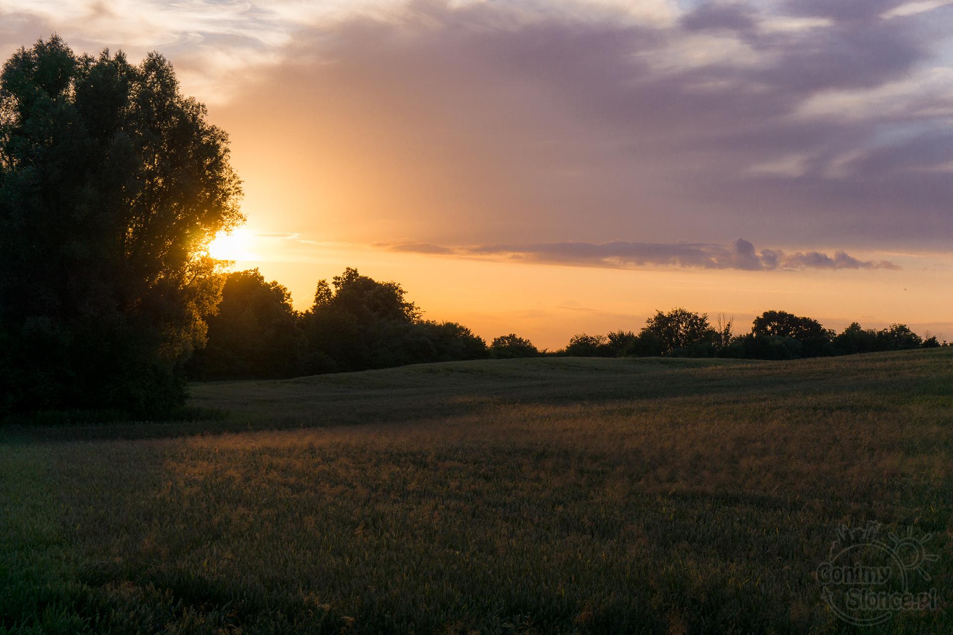Zachód słońca nad Polską, województwo warmińsko-mazurskie