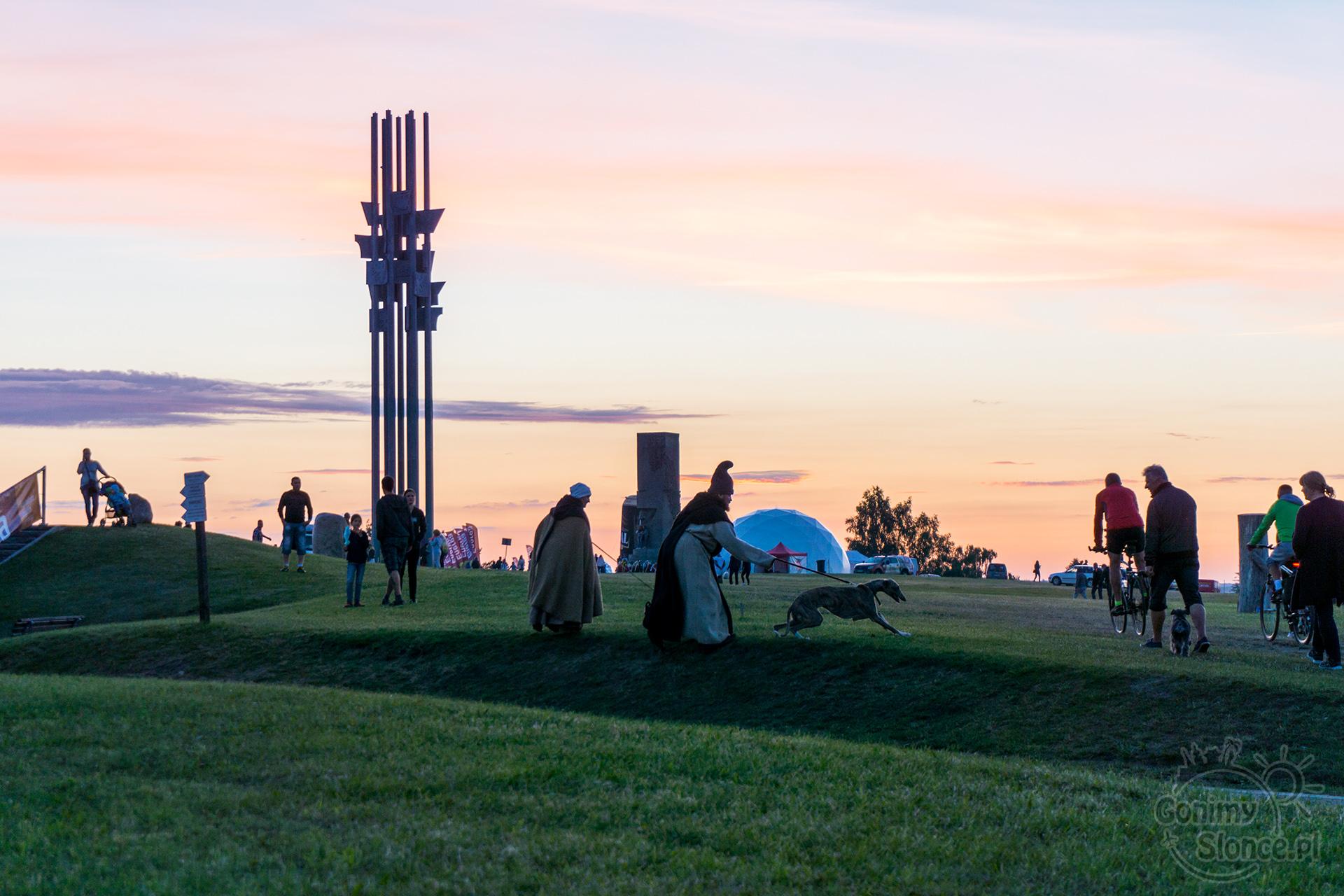 Grunwald 2017, zachód słońca