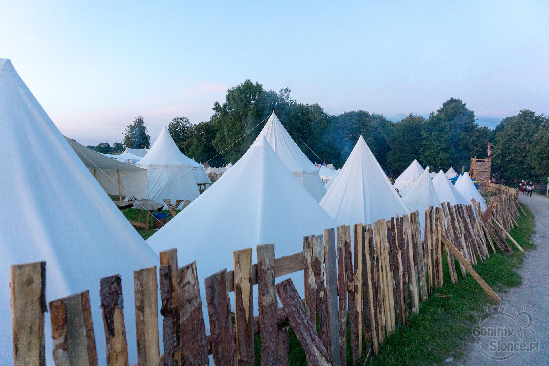 Namioty historyczne, Grunwald, obóz rycerski