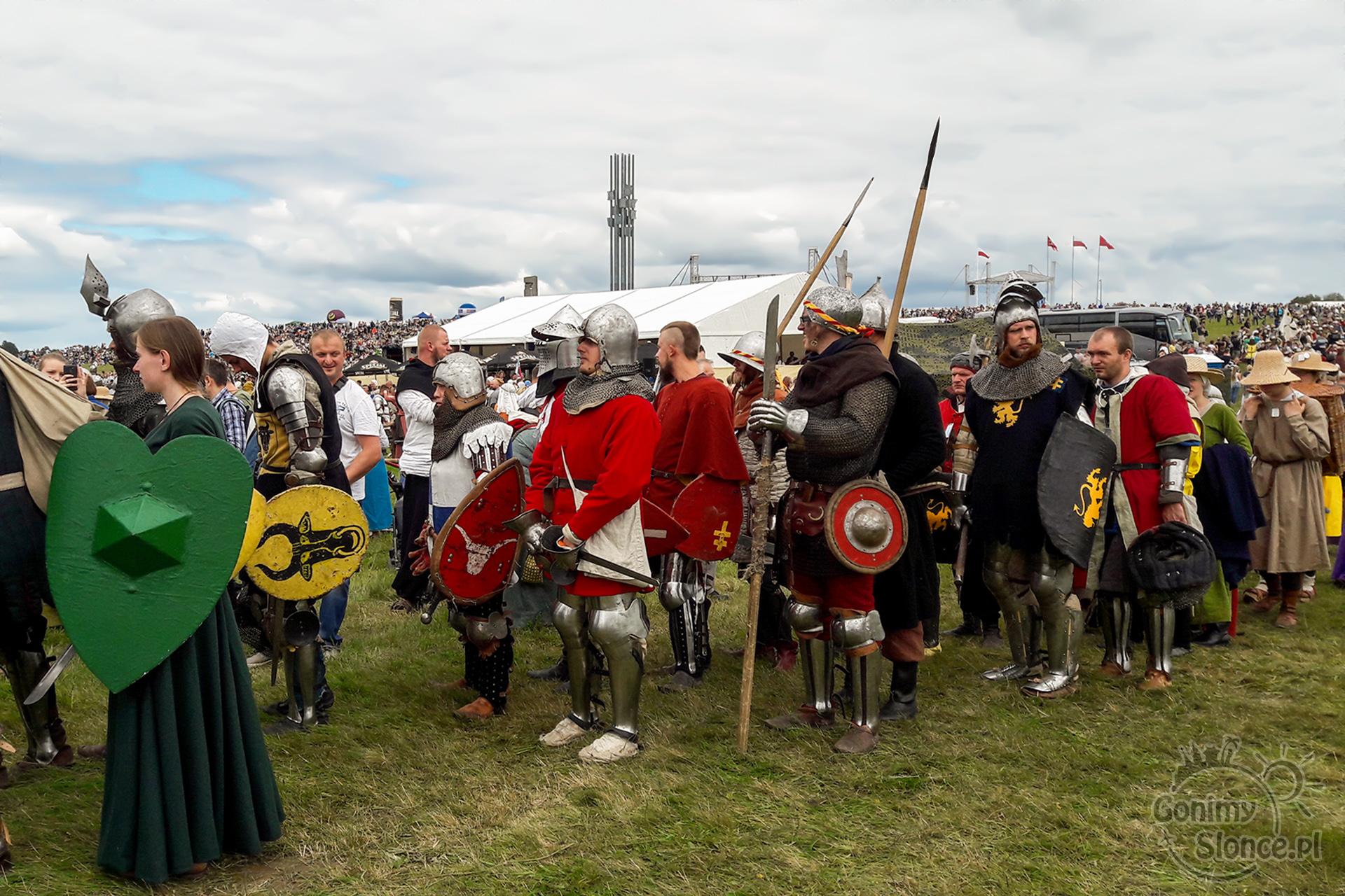 Rycerze w drodze na bitwę pod Grunwaldem