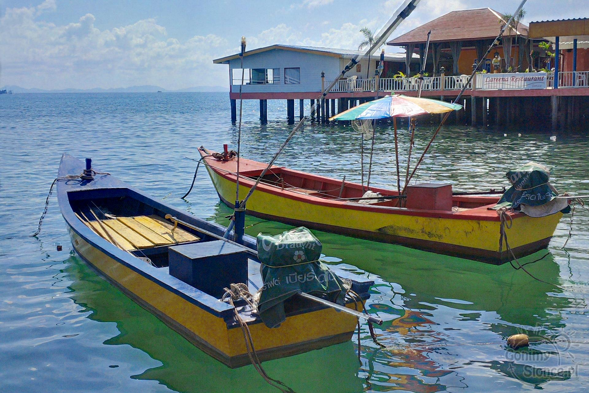 Tajlandia, łodzie na wodzie, Koh Larn
