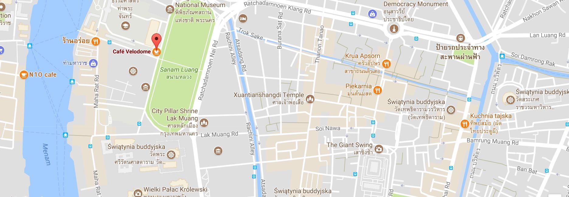 Mapa książki w podróży, Bangkok, Tajlandia