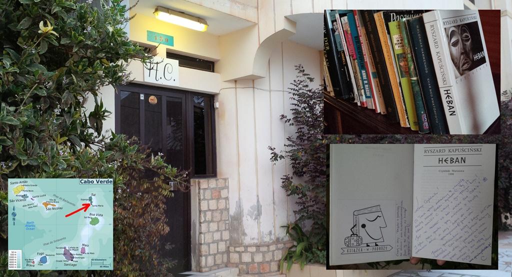 Książka w podróży, Sal, Santa Maria, Cabo Verde, Heban