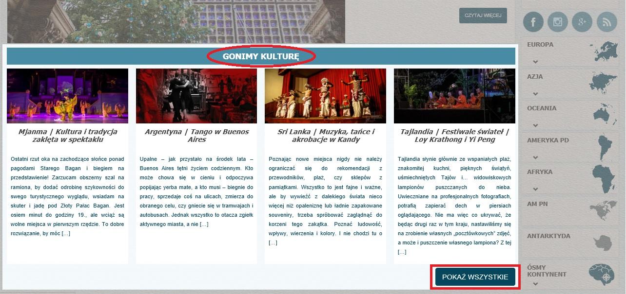 Mapa bloga Gonimyslonce | Kultura