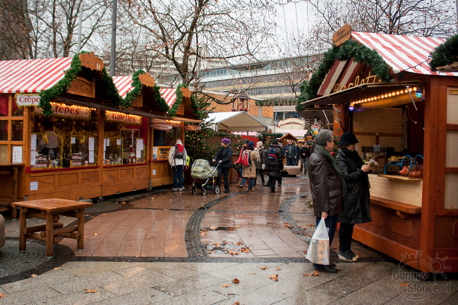 Stragany ze świątecznymi przysmakami, Jarmark w Berlinie