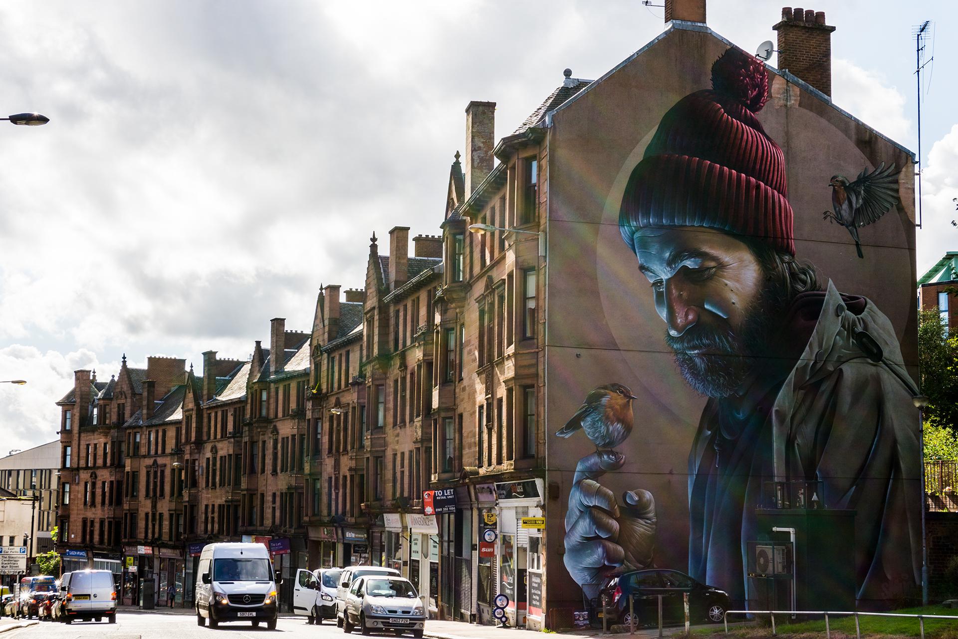 Glasgow street art, Szkocja 2017
