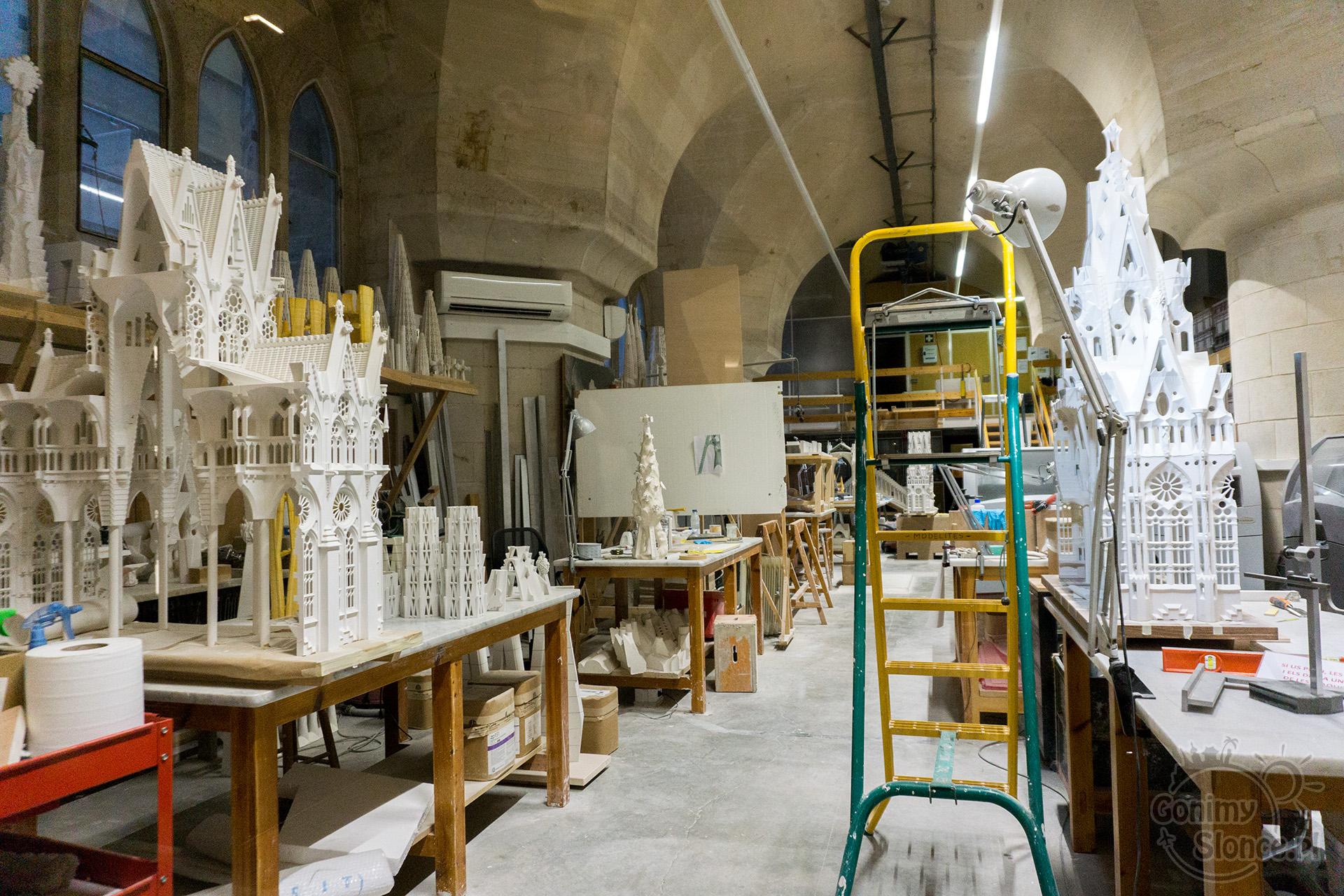 Sagrada Familia - pracownia w podziemiach