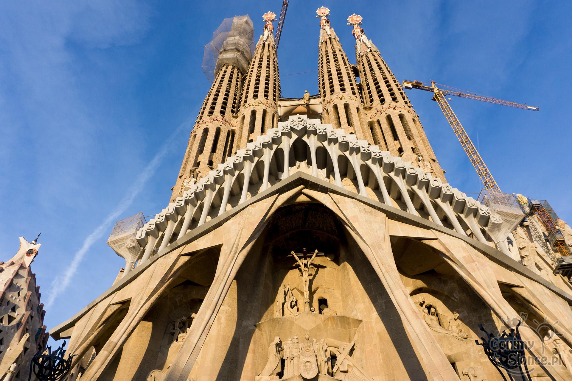 Sagrada Familia - świątynia z zewnątrz