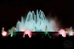 Tańczące fontanny w Barcelonie