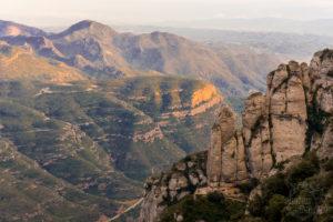 Masyw górski Montserrat, zachód słońca - Katalonia