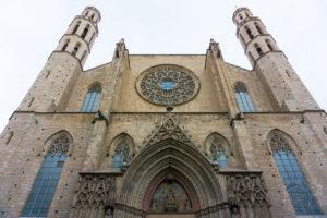 Santa Maria del Mar z zewnątrz Barcelona