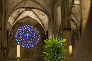 Santa Maria del Mar witraż   Barcelona
