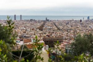 Widok na Barcelonę z Parku Guell
