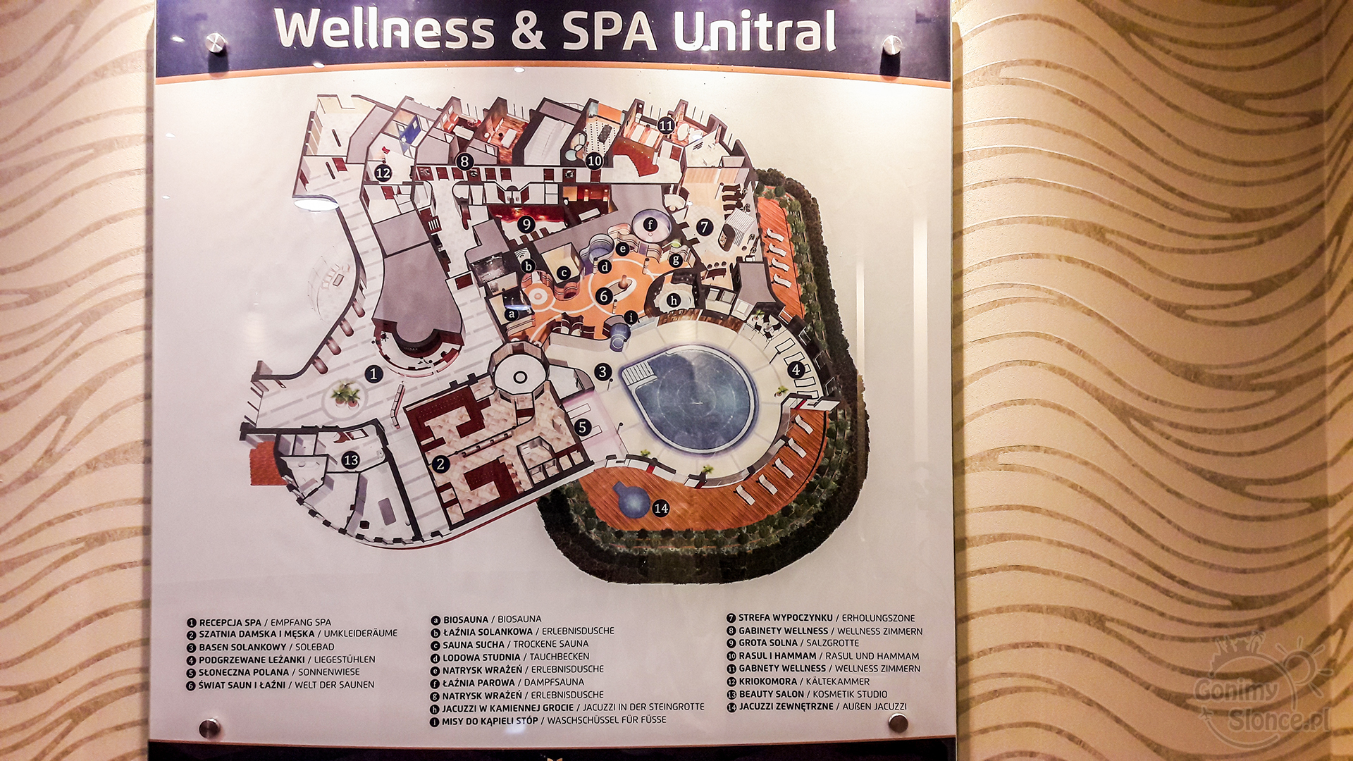 Mapa SPA & Wellness Unitral