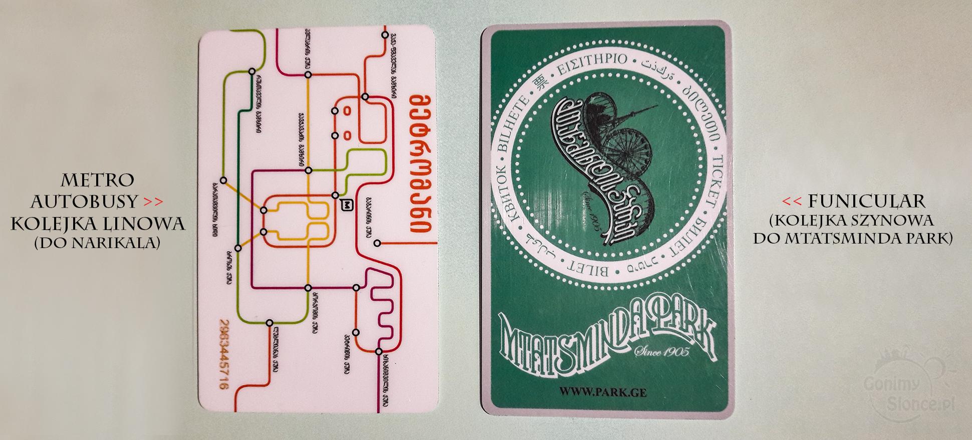Tbilisi karty | komunikacja, kolejki, metro, funicular