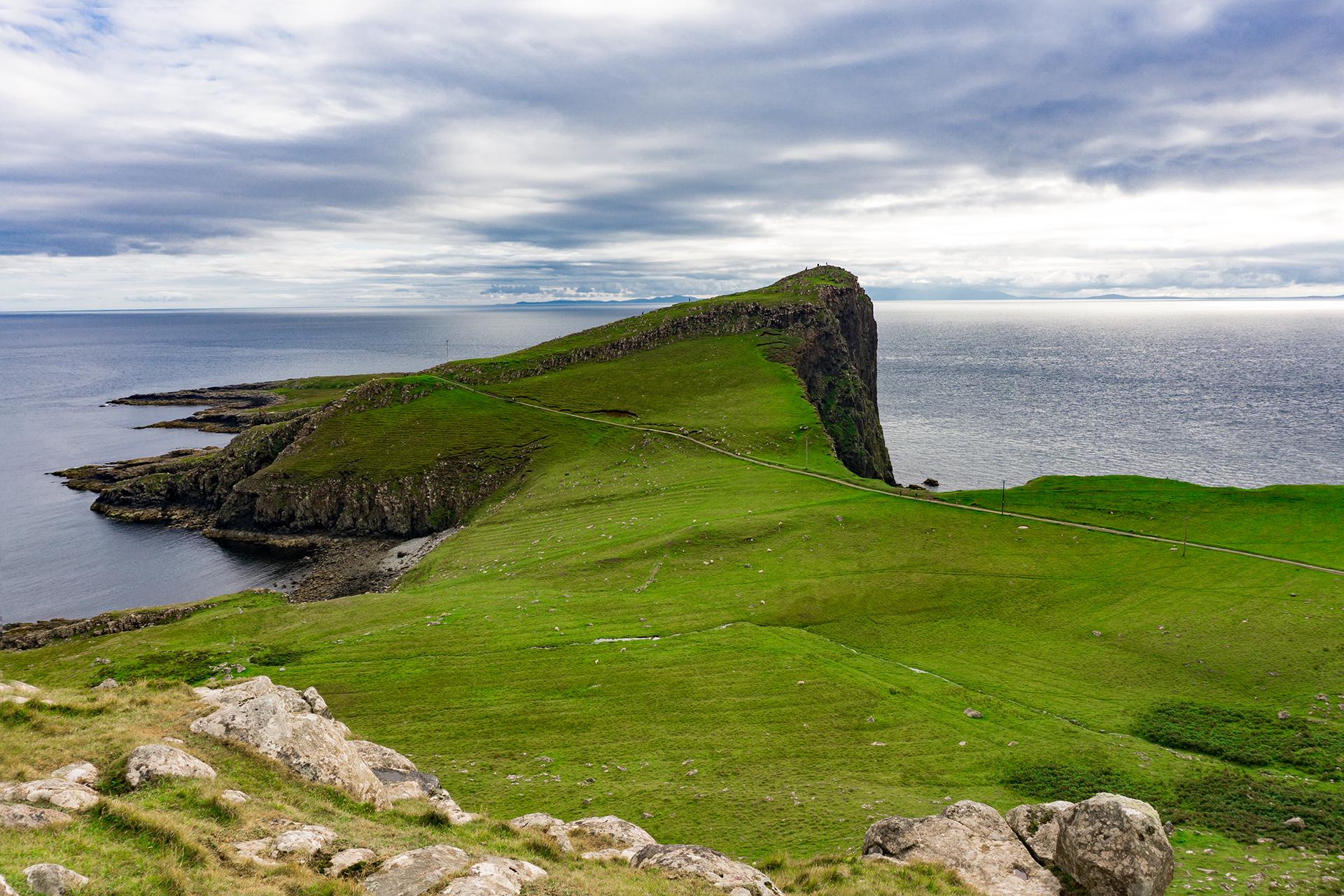 Wyspa Skye, Szkocja. koniec świata i zielone wzgórza