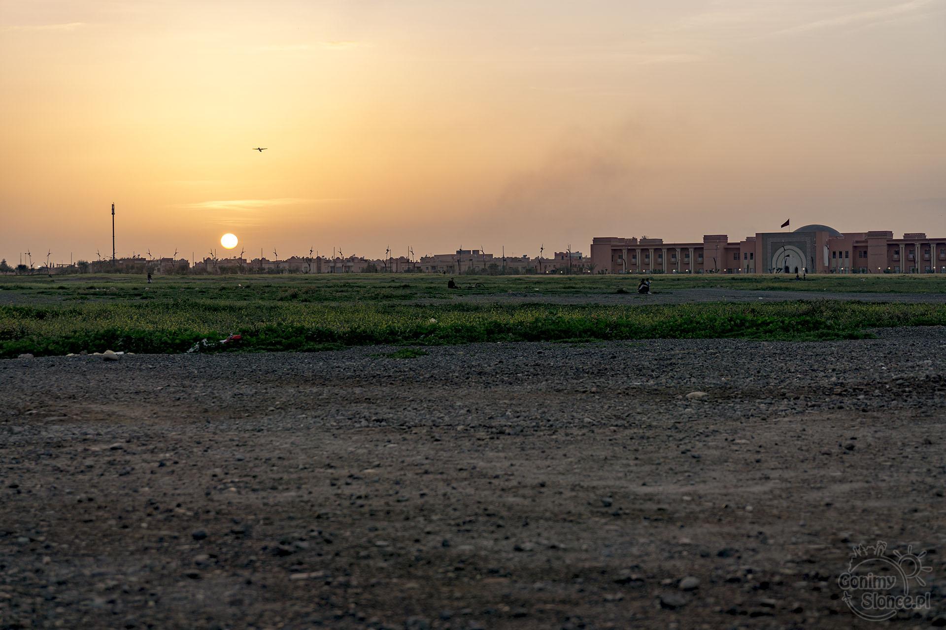 Marrakesz, zachód słońca