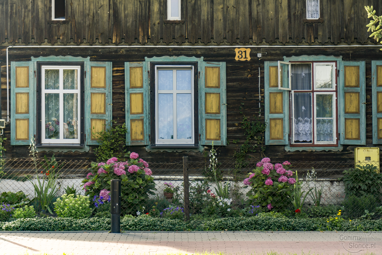 Drewniane okiennice Nowy Staw - Żuławy rowerem